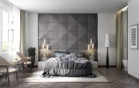 Delightful Image Of: Grey And White Bedroom Wall