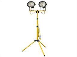 Tripod Site Light Double 1000w 240v Faithfull Fppsl1000ctl 110v Sitelight Twin Adjustable Stand 1000w