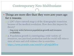 malthusian theory of overpopulation thomas malthus english 4 contemporary