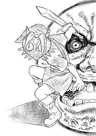 たいやき At 四コマ漫画 On Twitter 落書き ゼルダ リンク ムジュラ