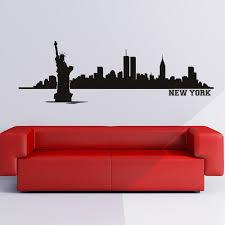 new york wall sticker city skyline wall decal living room bedroom
