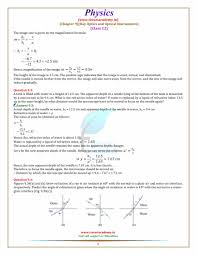 Light And Optics In Class Review 1 Answers Ncert Solutions For Class 12 Physics Chapter 9 Ray Optics
