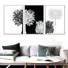 wall and peice 3 piece modern minimalist black white panels trees canvas painting wall art decor on wall art decor images with wall and peice 3 piece modern minimalist black white panels trees