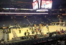 Bridgestone Arena Seating Chart Basketball Bridgestone Arena Section 114 Basketball Seating