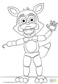 Coloring Mangle From Five Nights At Freddys Coloring Page Free Five Nights At Freddys Coloring Book L