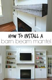 Railroad Tie Mantle how install a barn beam mantel mantels beams and barn 3118 by xevi.us