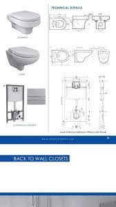 mounting type wall hung toilets for