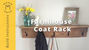 Coat Rack Shelf Diy How to Build a Farmhouse Coat Rack DIY Project Woodworking YouTube 63