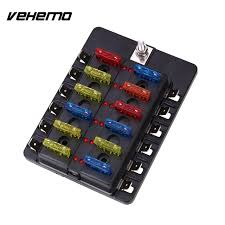 vehemo fuse box 12way indicator light pc wiring terminal fuse kit ve fuse box relocation vehemo fuse box 12way indicator light pc wiring terminal fuse kit safety abs black