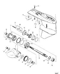 Mercury mariner 75 hp gear housing propeller shaft