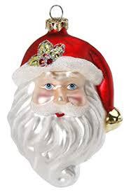Magic Christbaumschmuck Weihnachtsmann Kopf 95cm Glas Handarbeit Mundgeblasen Handbemalt Weihnachtskugeln Baumkugeln Baumschmuck Lustig
