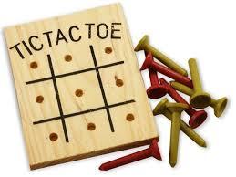 Wooden Peg Games Wooden Tic Tac Toe Peg Game One Dozen 18