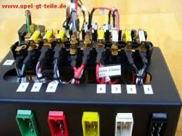 opel gt teile de fuse box fuse box including relais and cable set new