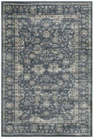 dark blue cream grey rug ikea adum vintage