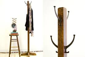 Rustic Coat Rack Stand Adorable Rustic Standing Coat Rack Coat Racks Intended For Rustic Standing