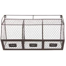 attractive metal wall basket designing home storage shelf baskets flowers with hooks uk kitchen