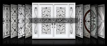 plain glass wrought iron and decorative glass panels and door glass inserts o