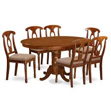7 Pc Dining Room Set And Oval Dining Table With Leaf And 6