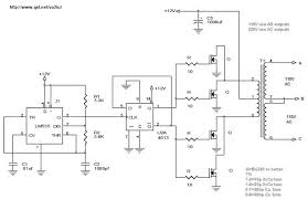 power supply and power control circuit diagrams circuit schematics 12v to 110v 220v dc ac 300w inverter