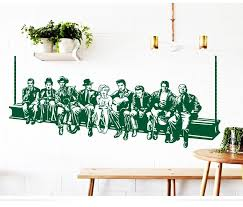 hollywood lunch wall sticker star wall decals american style home decoration mural house decor for