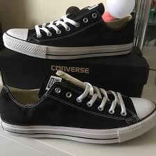 size 14 skater shoes 18 off converse shoes bnib black low top mens size 14 poshmark