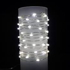 everlasting glow wire string lights warm white led battery silver wire commercial grade indoor outdoor set