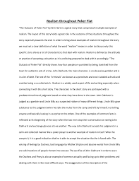english essay realism throughout