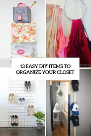 13 Easy DIY Closet Organizers Shelterness