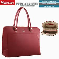 morrissey women s italian leather tote bag office work handbag red