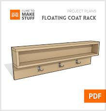 Coat Rack Woodworking Plans Get Digital Plans To Make This Simple Floating Coat Rack With Cubby 83