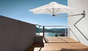 wall mounted patio umbrella commercial metal orientable paraflex wall by peter leleu