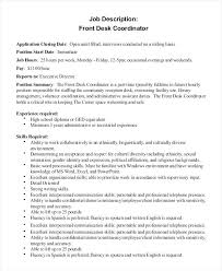 front office coordinator resume front desk agent resume resume hotel front guest service representative resume sample