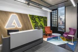 office reception area reception areas office. Adobe London Office In The White Collar Factory. Reception Area Areas
