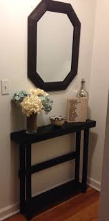 entry tables for small spaces. Black Wooden Entryway Table With Shelf And Four Legs On The Corner Entry Tables For Small Spaces O