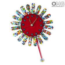 sunflower pendulum wall clock