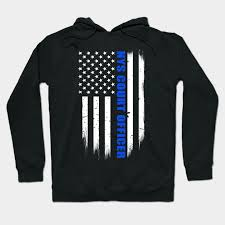 Nys Court Officer Thin Blue Line Flag
