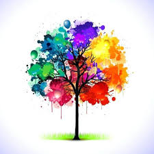 um image for colorful look closely there are balloons in the tree tattoo inspirationssimple watercolor painting