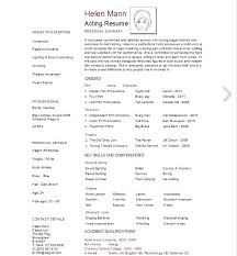 Actor Resume Template Fresh Free Simple Resume Templates