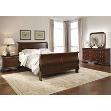 Modern Sleigh Bedroom Sets Traditional 4pc Brown Bedroom Set Modern Sleigh Bed 2 Drawer
