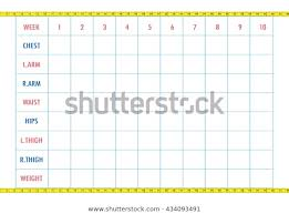 Blank Weight Chart Measurement Chart Body Parameters Sport Diet Stock Vector