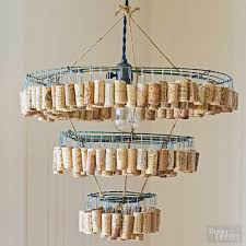 this is a cork chandelier