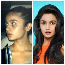 alia is blessed with a flawless plexion which doesn t even require makeup without any eyeshadow and lipstick alia looks much younger than she really