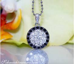 white diamond pendant in white gold 14k