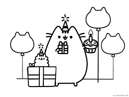 All these father's day coloring pages are free, and you can print them right from your home computer. Pusheen Coloring Pages Cartoons 1541488887 Pusheen Happy Birthday Party With Dad Printable 2020 5165 Coloring4free Coloring4free Com