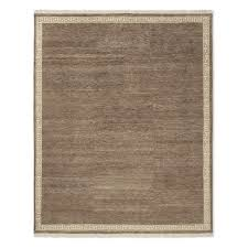 greek key border hand knotted rug