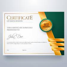 Certificate Of Participation Award Diploma Vector Premium