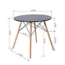 Fanilife 80 Cm Esszimmer Tisch Rund Moderne Retro Schreibtisch Mit