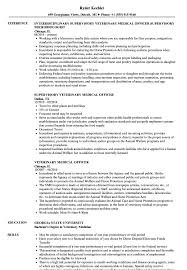 Veterinary Resume Samples Veterinary Medical Officer Resume Samples Velvet Jobs 43