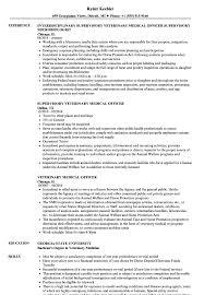 Veterinarian Resume Veterinary Medical Officer Resume Samples Velvet Jobs 88