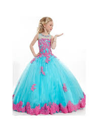 ball gown flower girl dresses. ball gown lace appliques illusion neckline princess flower girl dresses 5501042 c